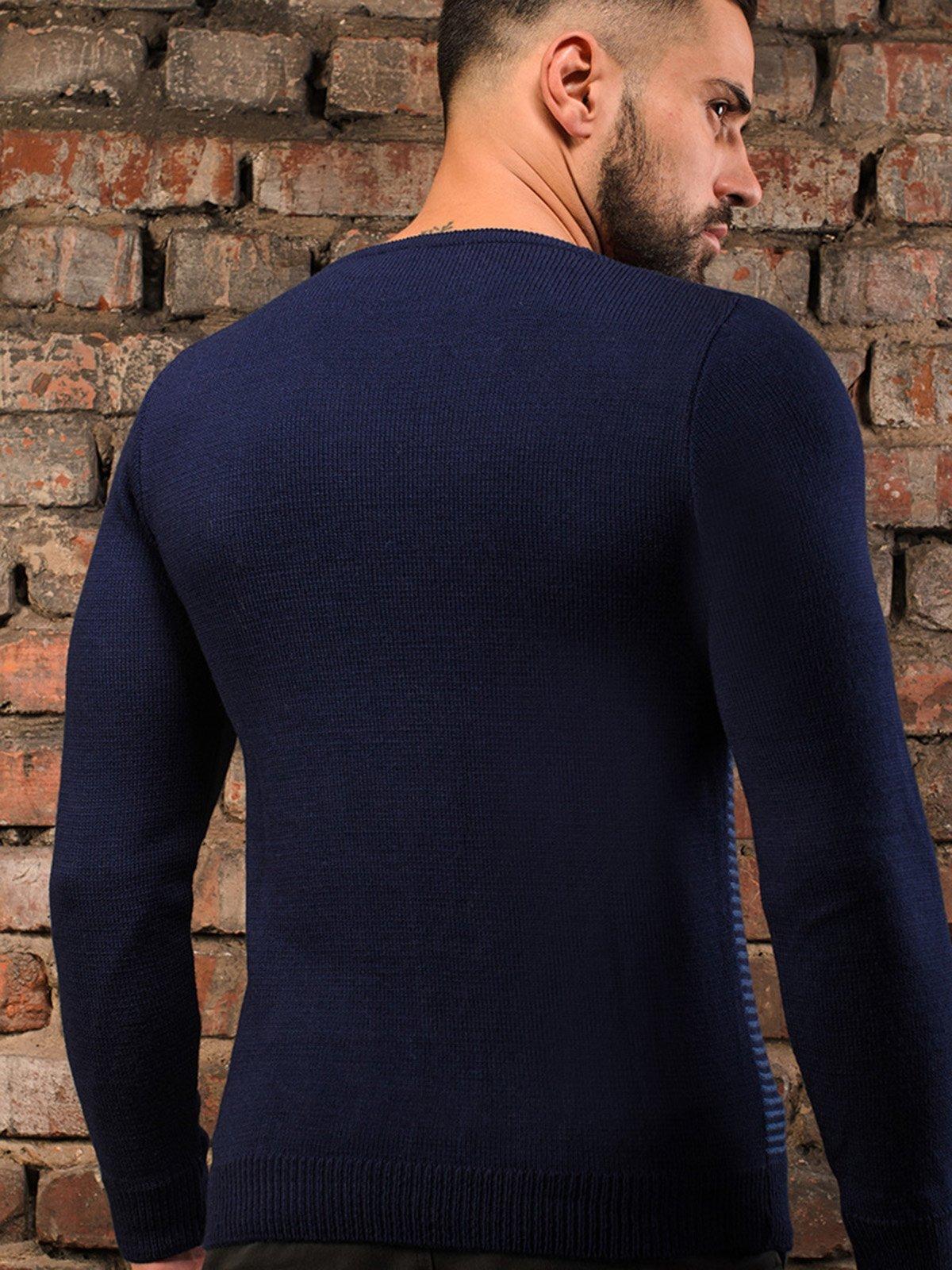 Пуловер темно-синій   3898898   фото 5