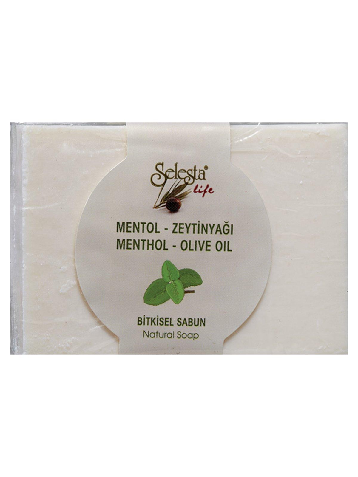 Мыло растительное с ментолом и оливковым маслом (100 г)   4058986