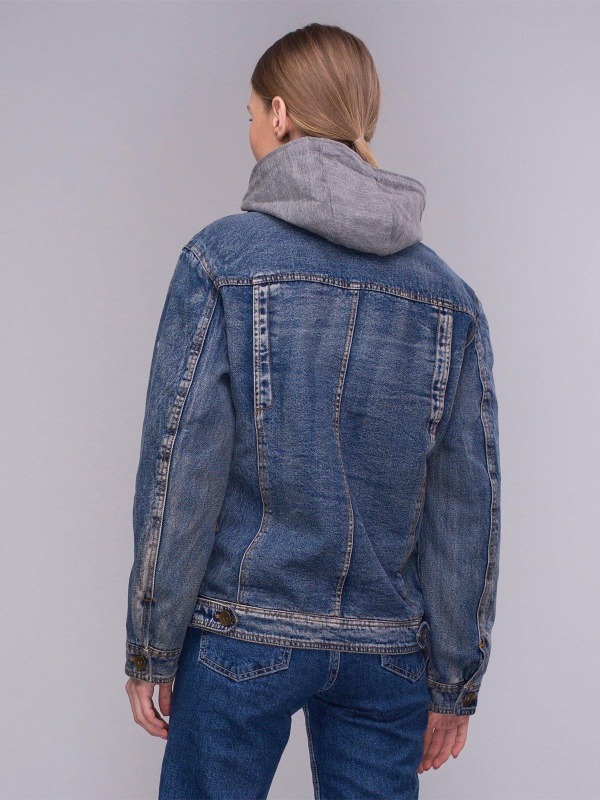 Куртка синяя джинсовая | 4031114 | фото 2