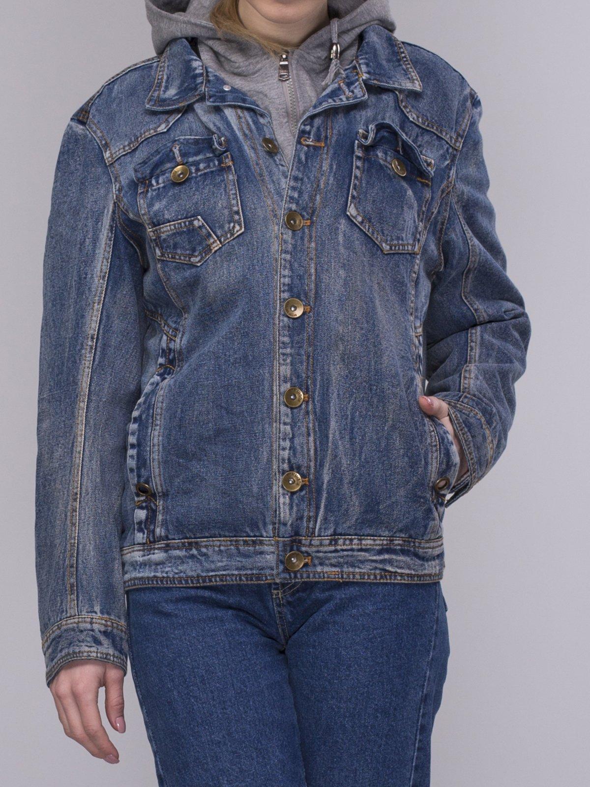 Куртка синяя джинсовая | 4031114 | фото 3