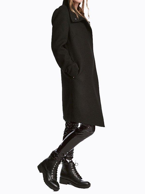 Пальто черное | 4063860 | фото 4