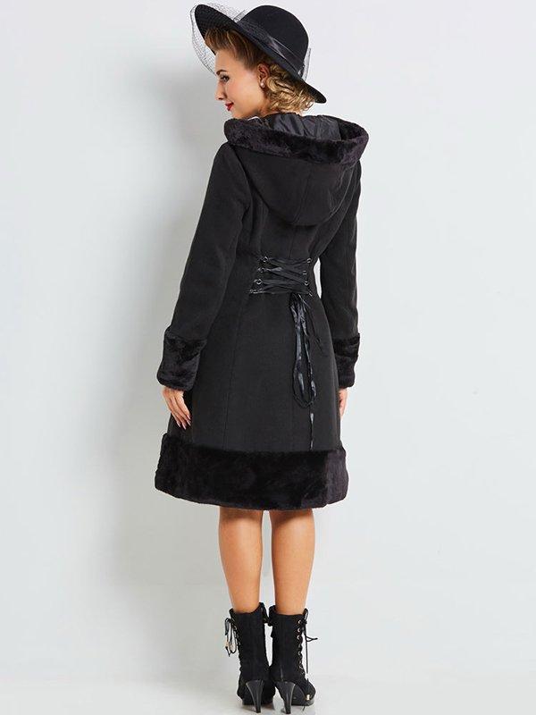 Пальто черное | 4063965 | фото 4