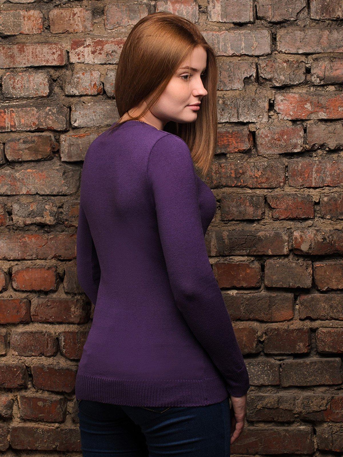 Джемпер фіолетовий | 4050504 | фото 3