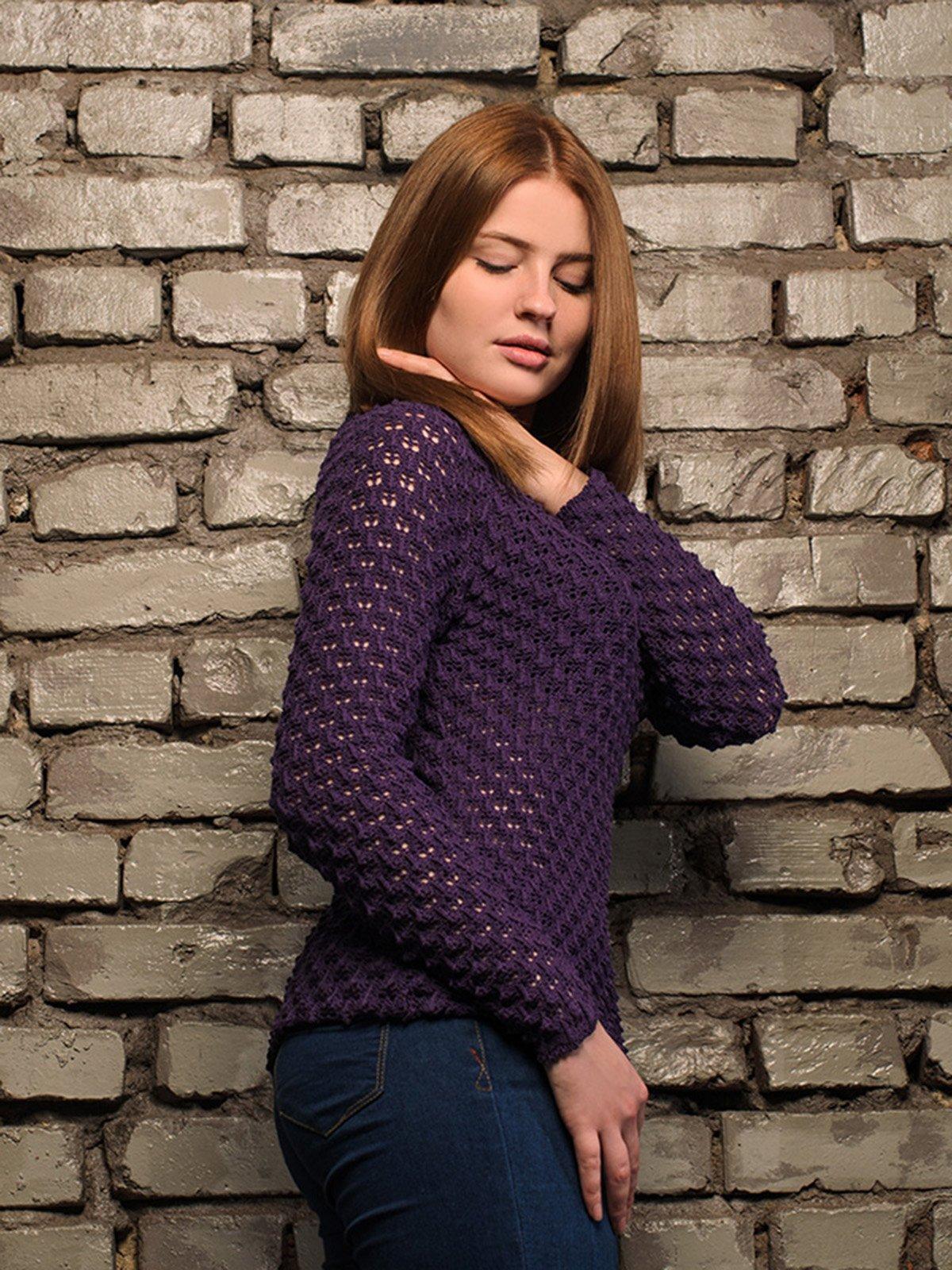 Джемпер фіолетовий | 4050523 | фото 2