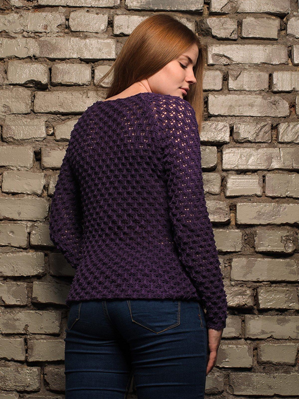 Джемпер фіолетовий | 4050523 | фото 3