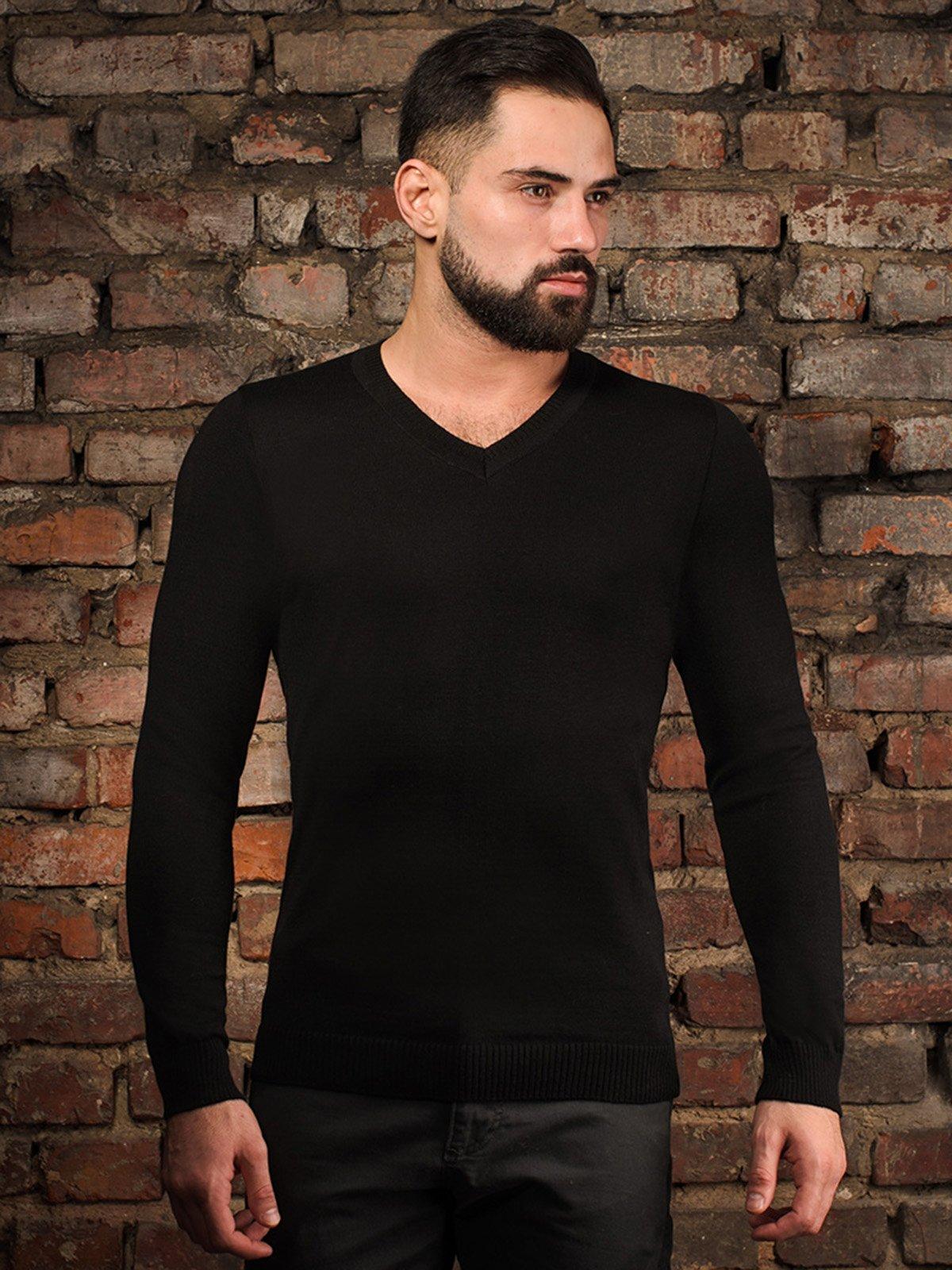 Пуловер черный | 4058323
