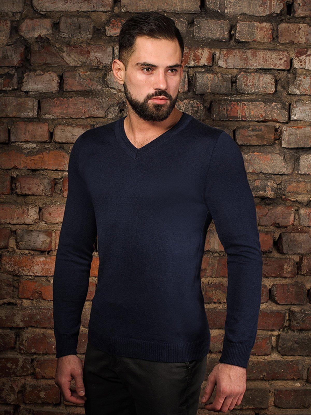 Пуловер темно-синий | 4058327