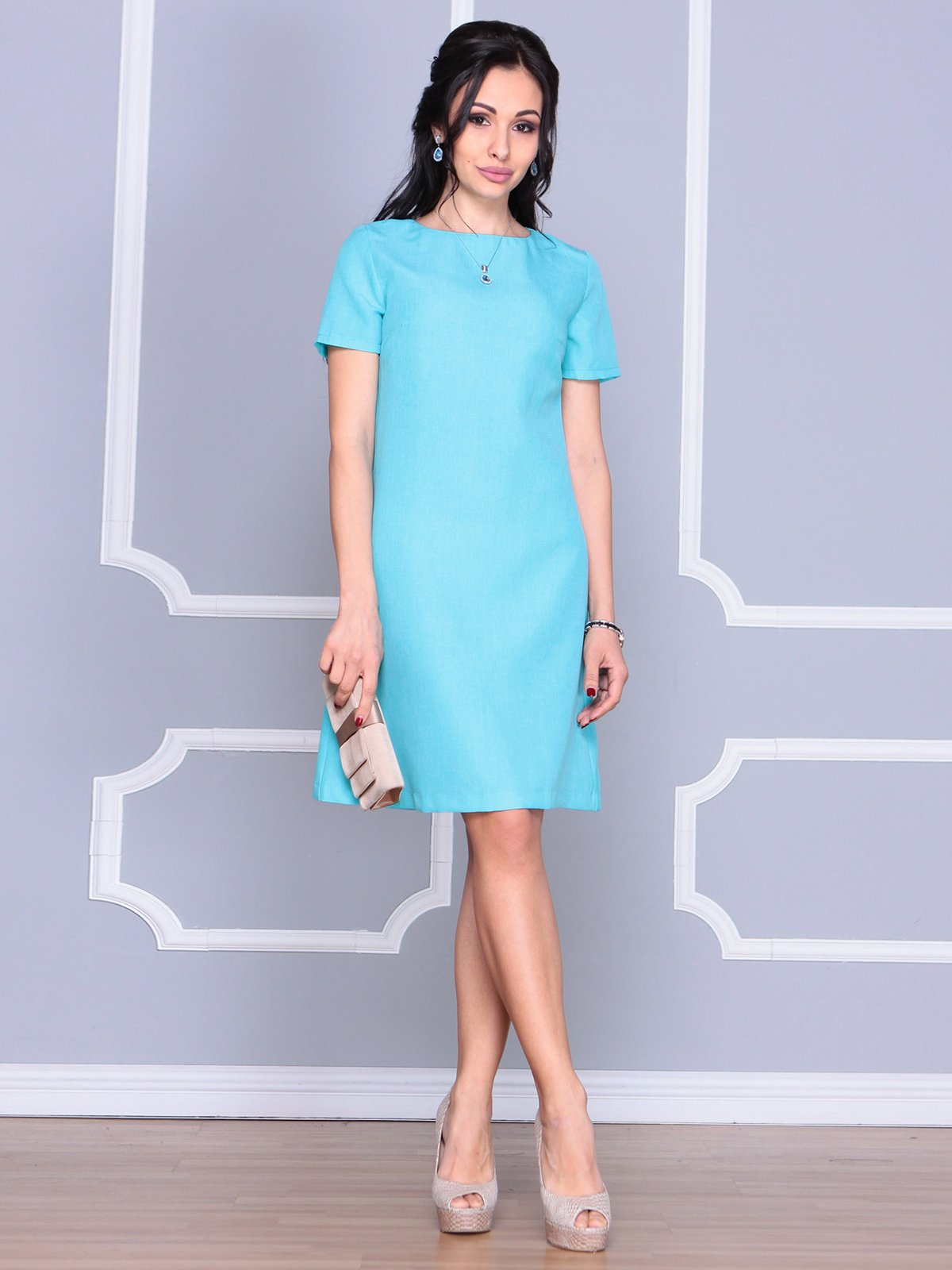 Платье светло-бирюзовое   4064990