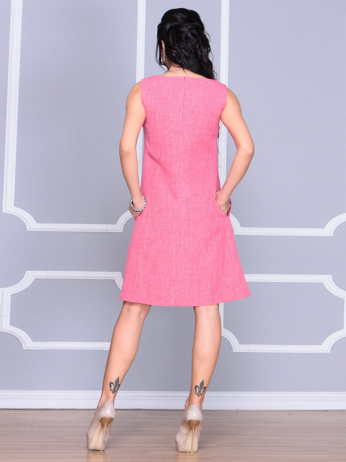 Платье-сарафан розовое | 4064991 | фото 2