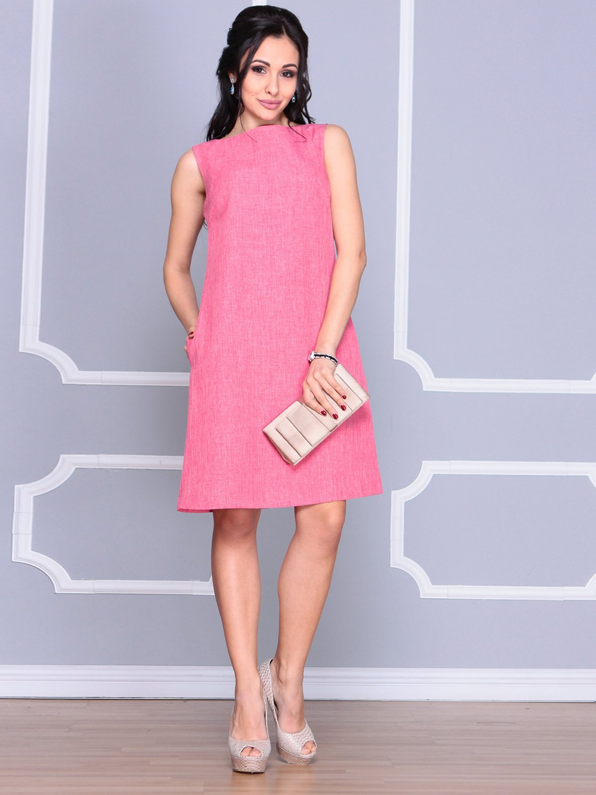 Платье-сарафан розовое | 4064991 | фото 3