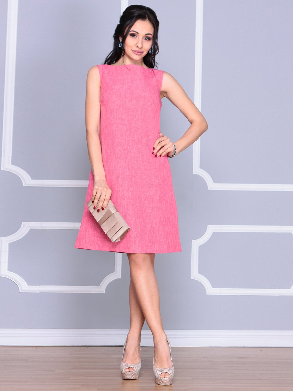 Платье-сарафан розовое | 4064991 | фото 5