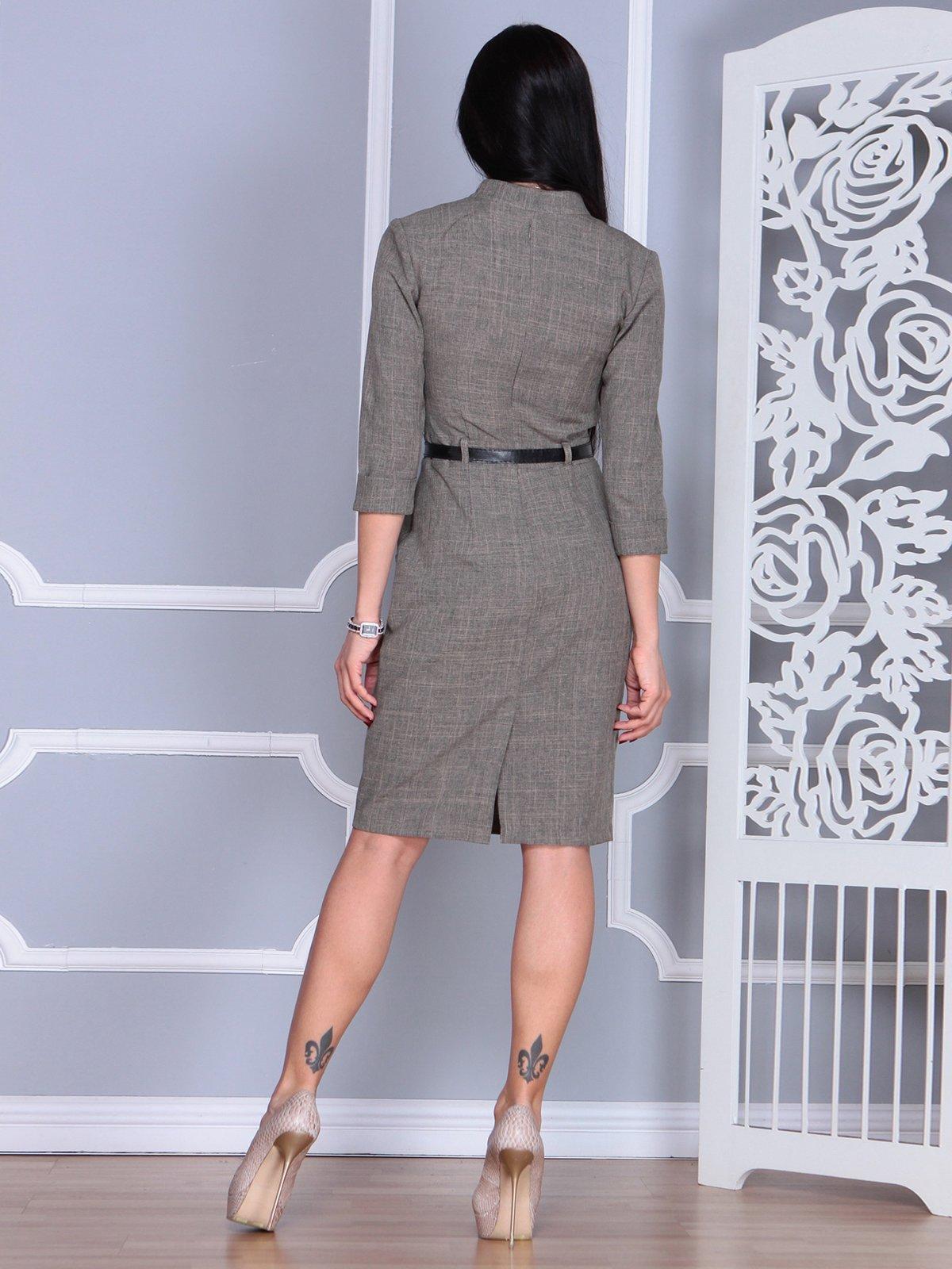 Платье цвета бежевый хаки | 4064996 | фото 2