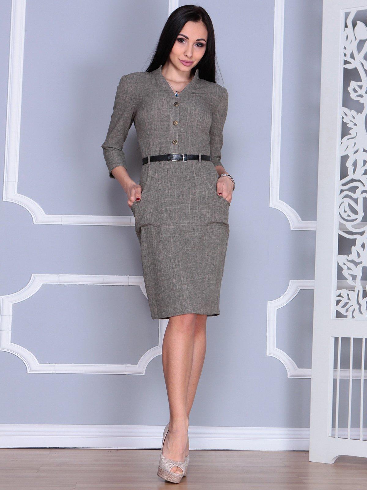 Платье цвета бежевый хаки | 4064996 | фото 4