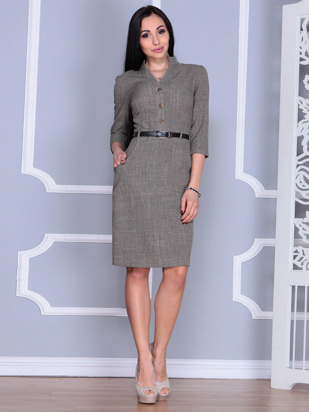 Платье цвета бежевый хаки | 4064996 | фото 5