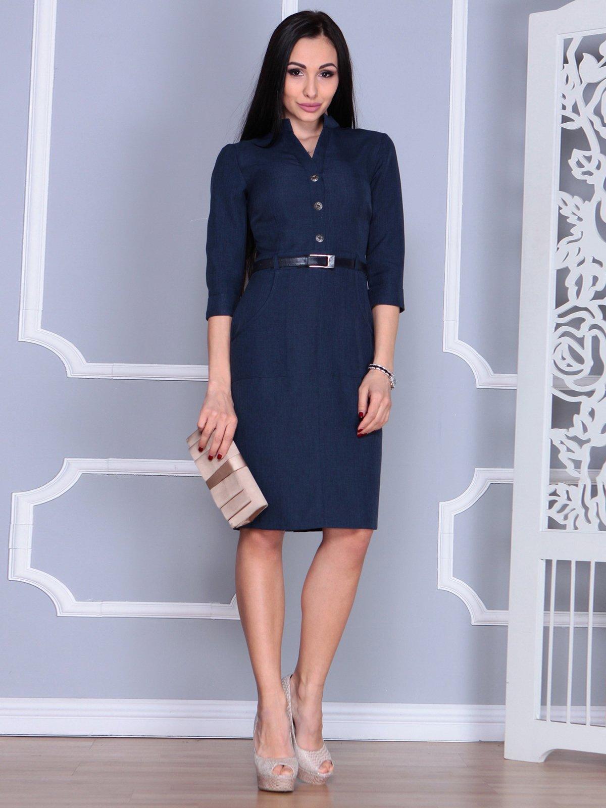 Платье темно-синее   4064998