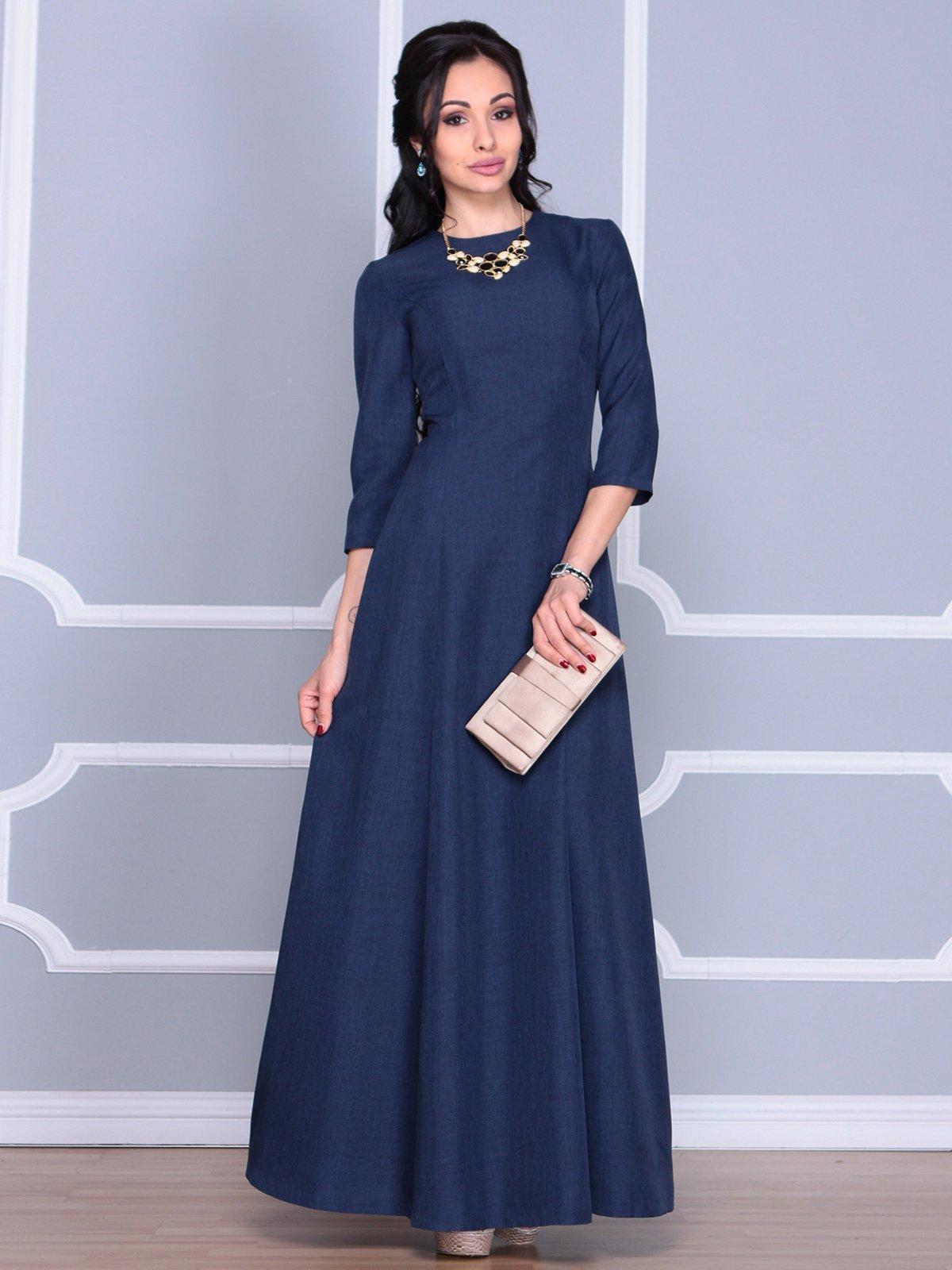 Платье темно-синее | 4065003