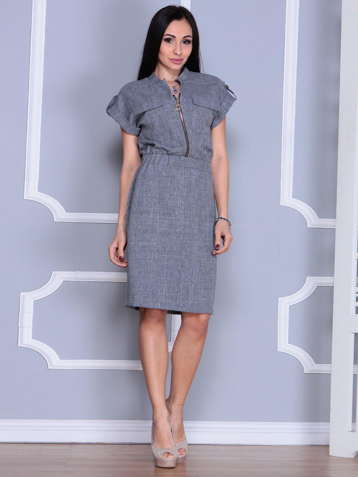 Платье дымчатого цвета   4065007   фото 3