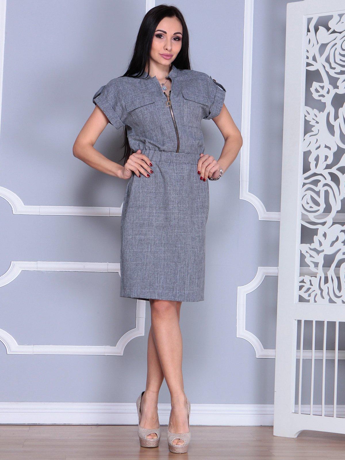 Платье дымчатого цвета   4065007   фото 4