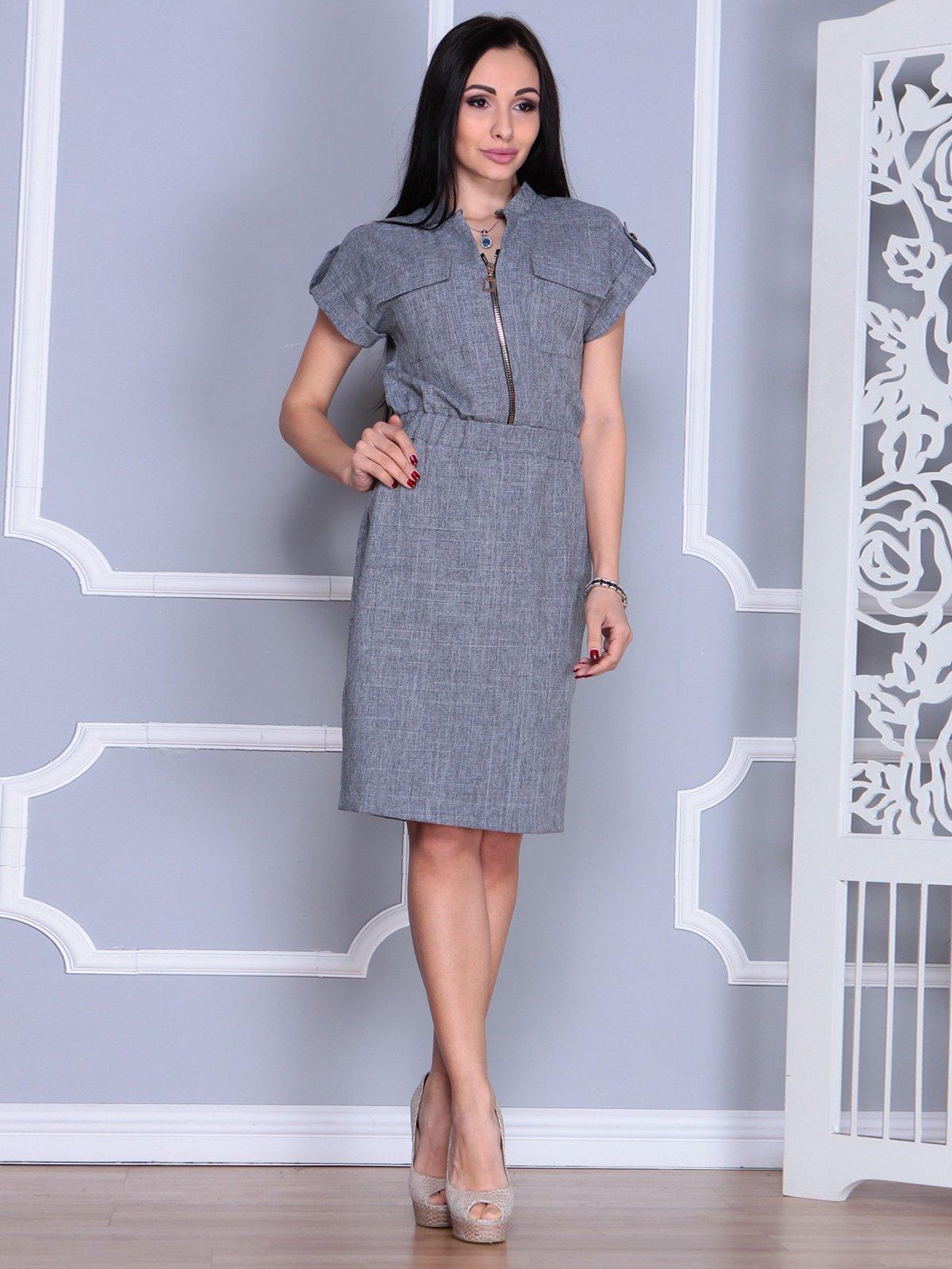 Платье дымчатого цвета   4065007   фото 5