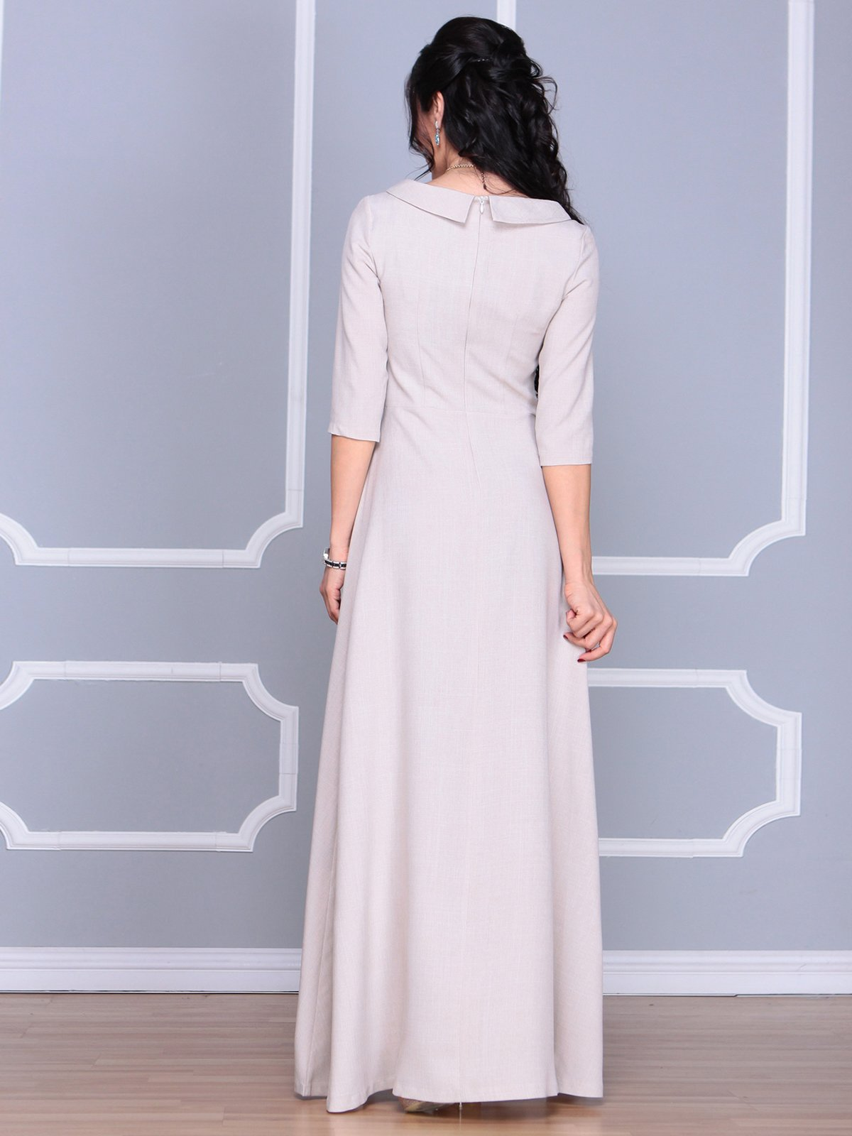 Платье бежевое | 4065031 | фото 2