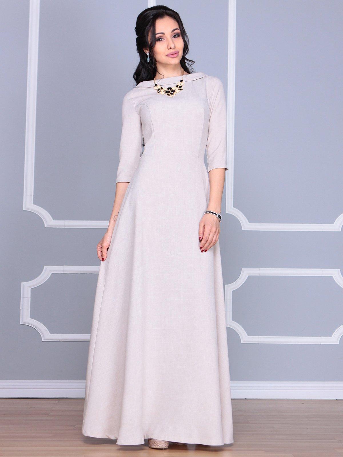 Платье бежевое | 4065031 | фото 3