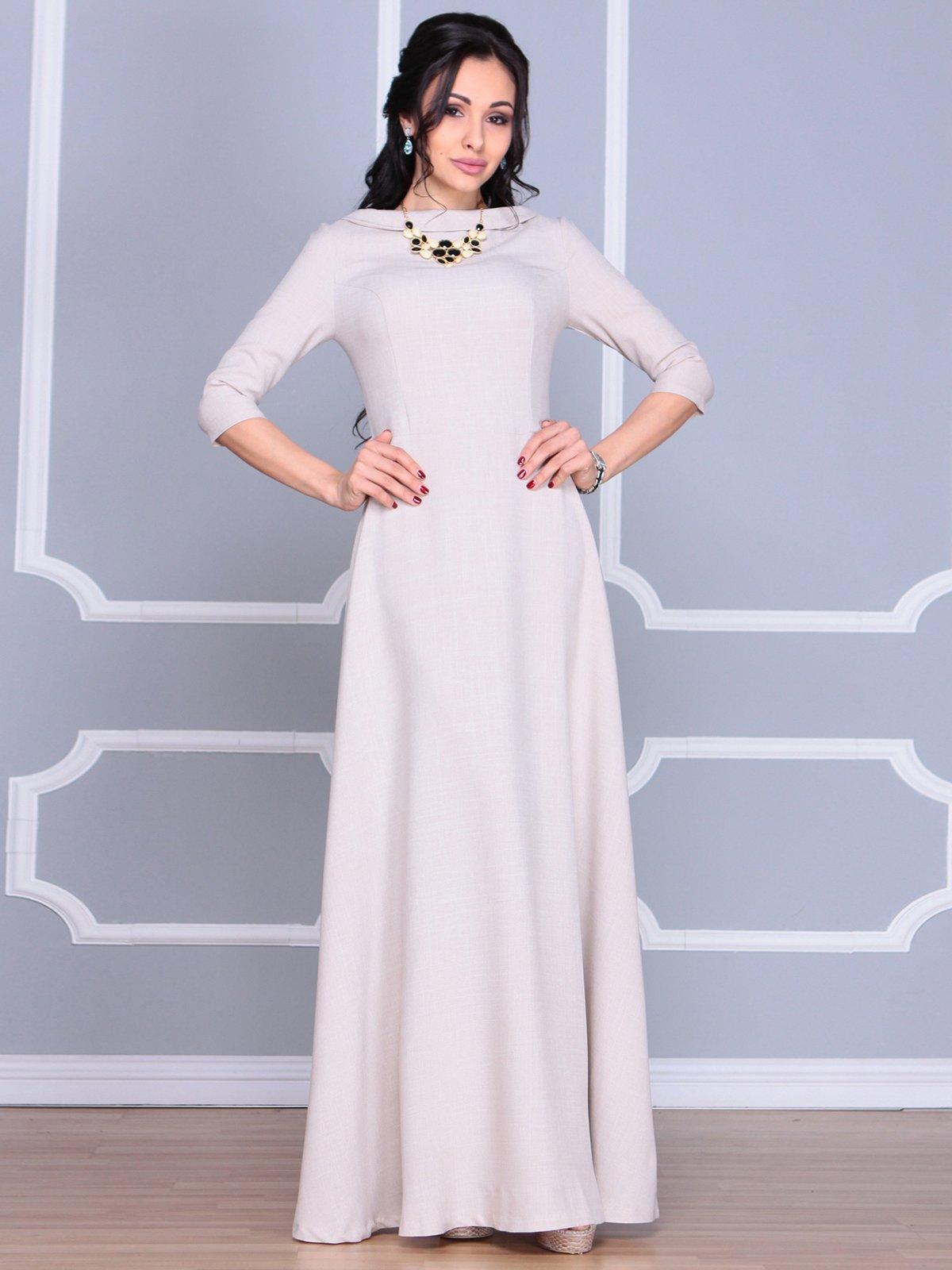 Платье бежевое | 4065031 | фото 4