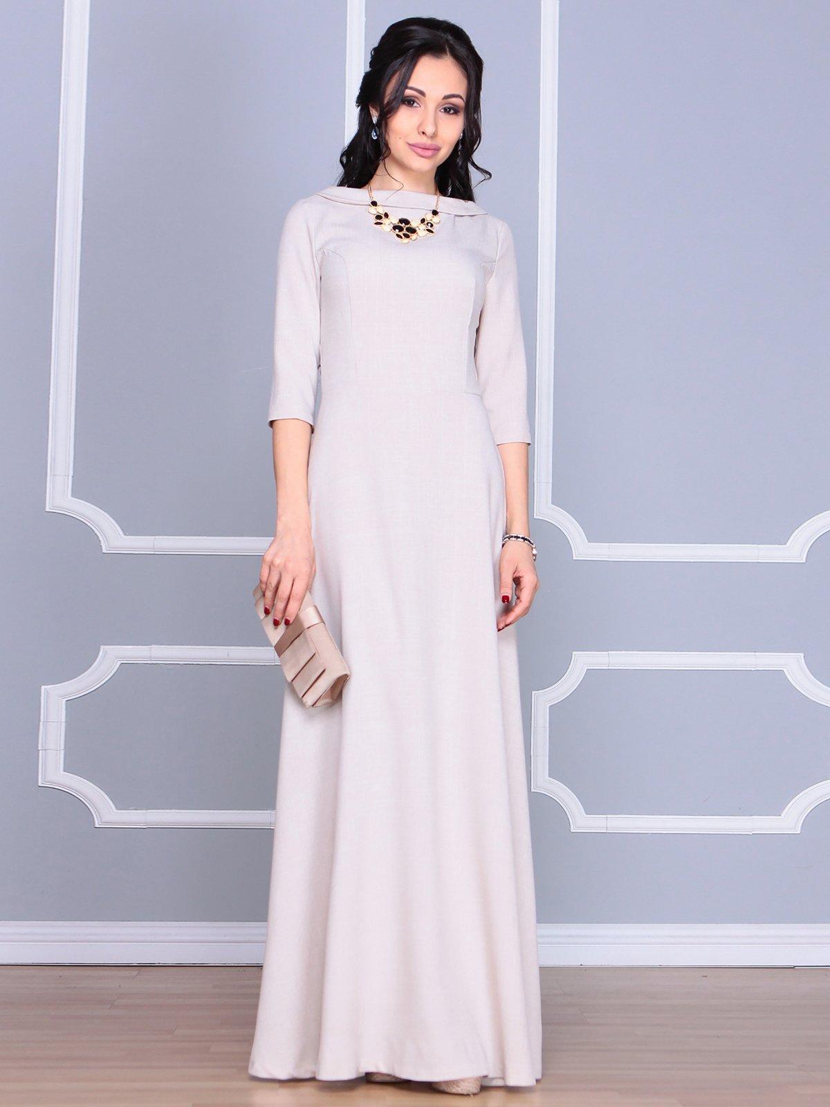 Платье бежевое | 4065031 | фото 5