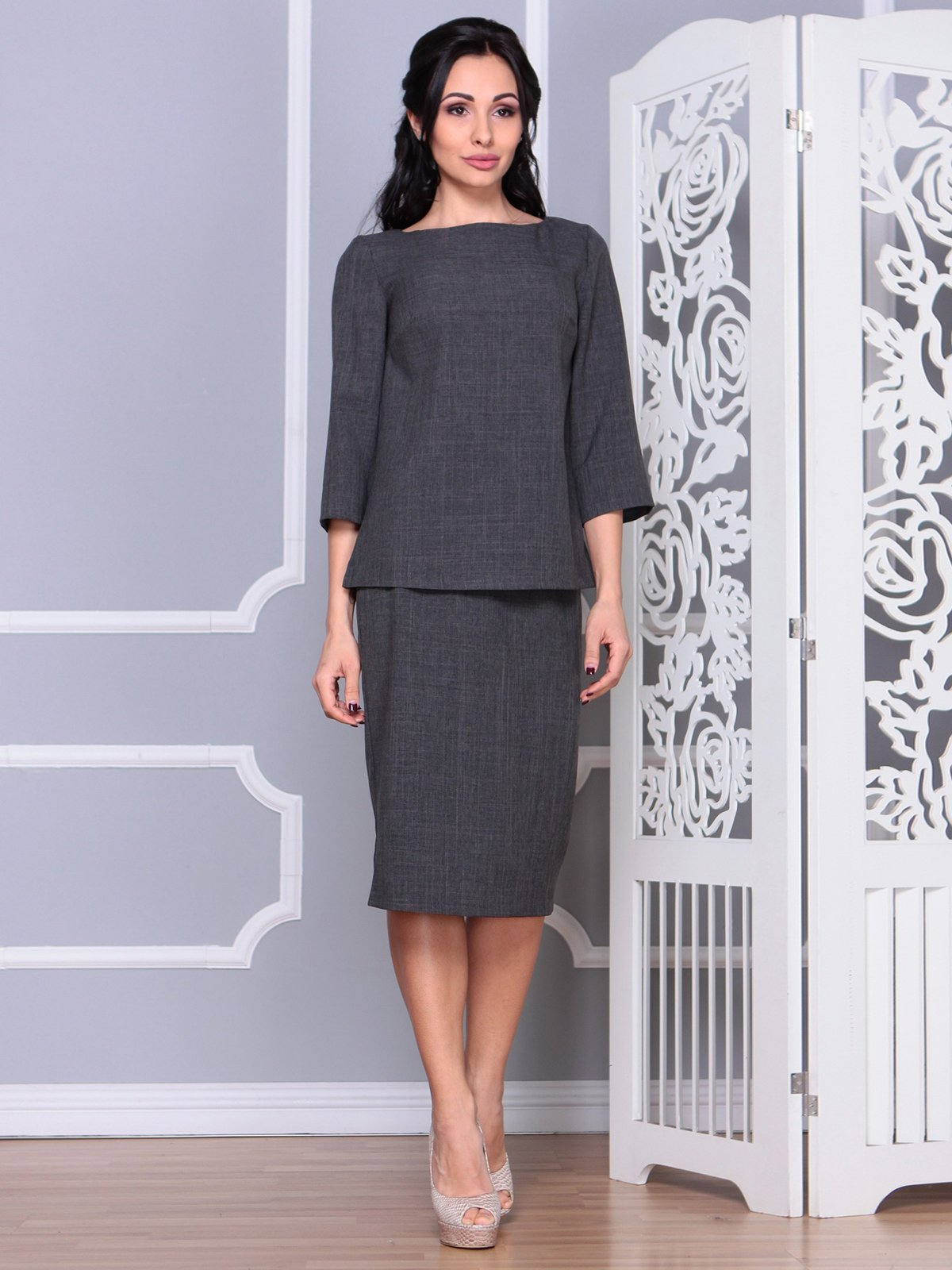 Костюм: блуза и юбка | 4065036