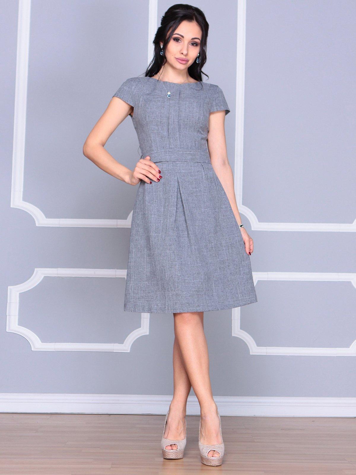 Платье дымчатого цвета | 4065039 | фото 4
