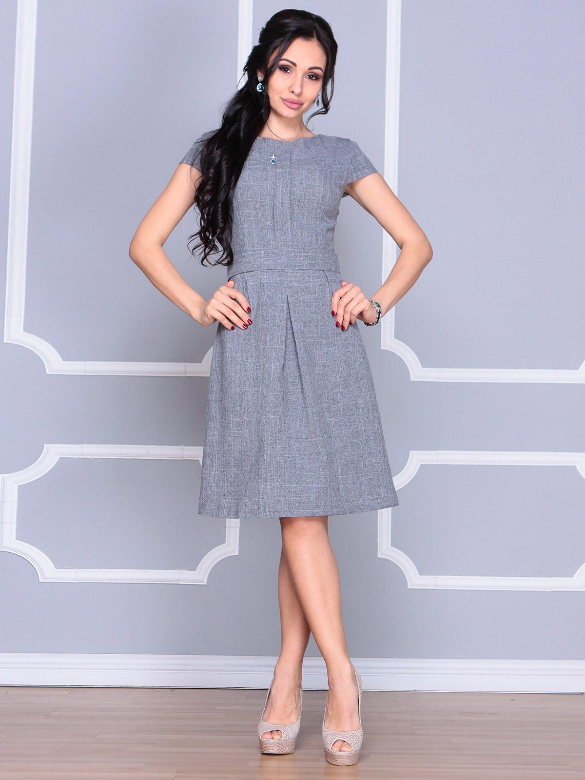 Платье дымчатого цвета | 4065039 | фото 5