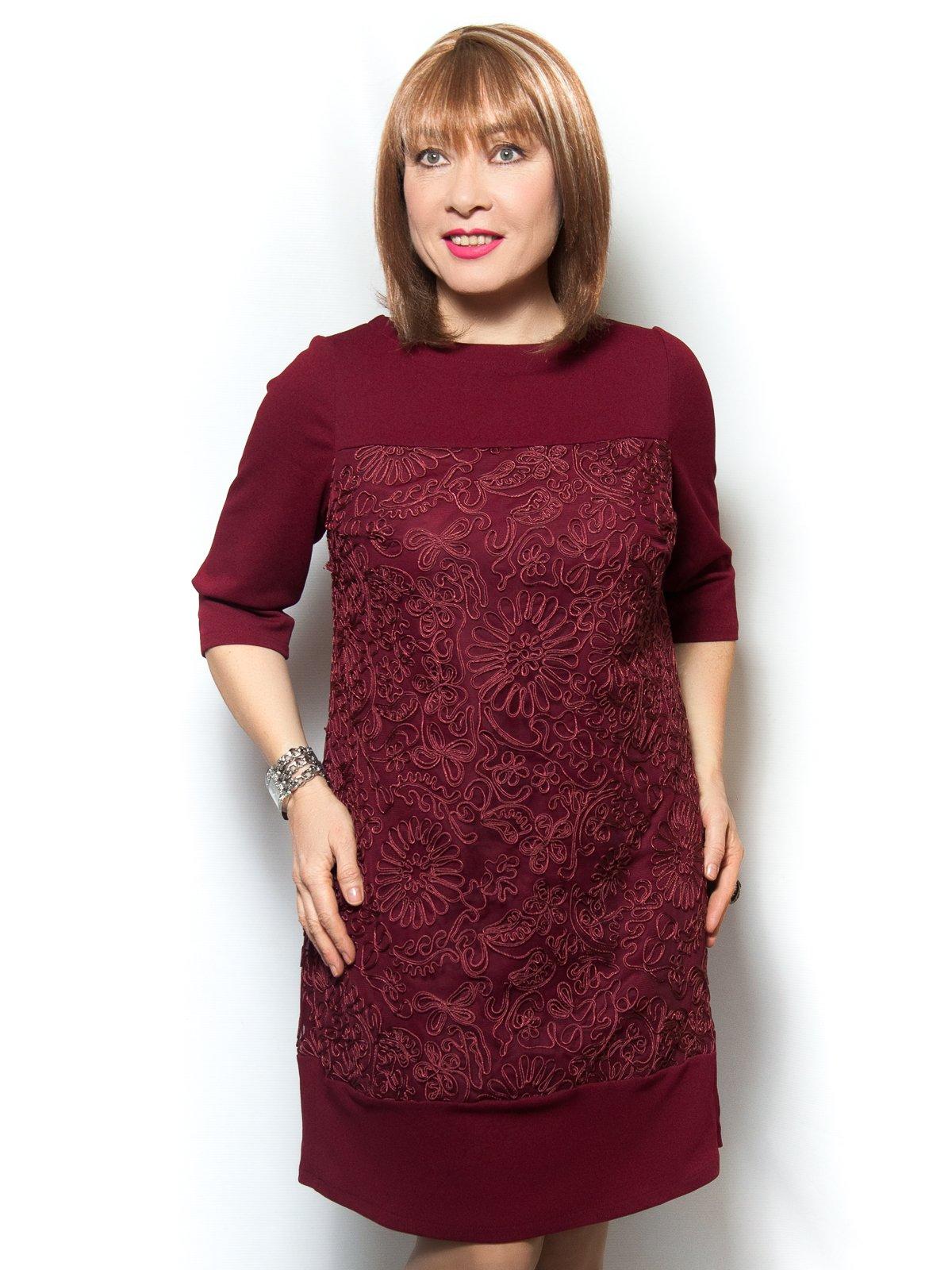 Платье бордовое | 4071389