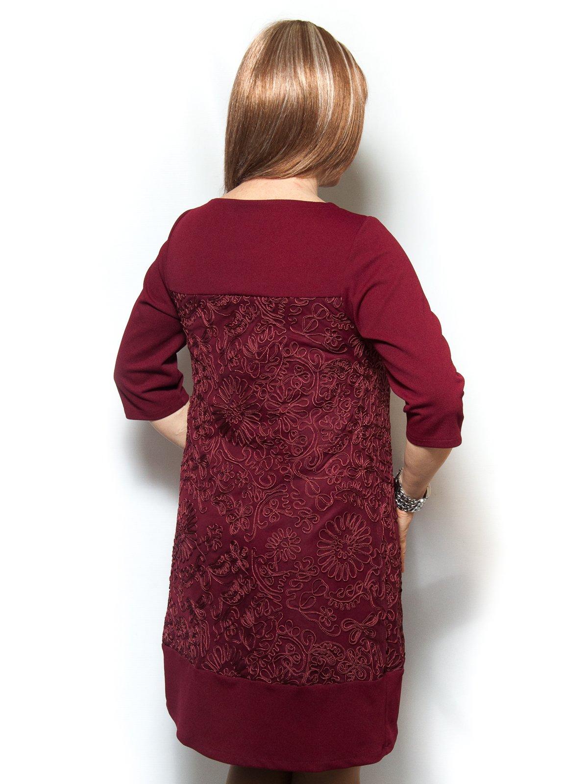 Платье бордовое | 4071389 | фото 2