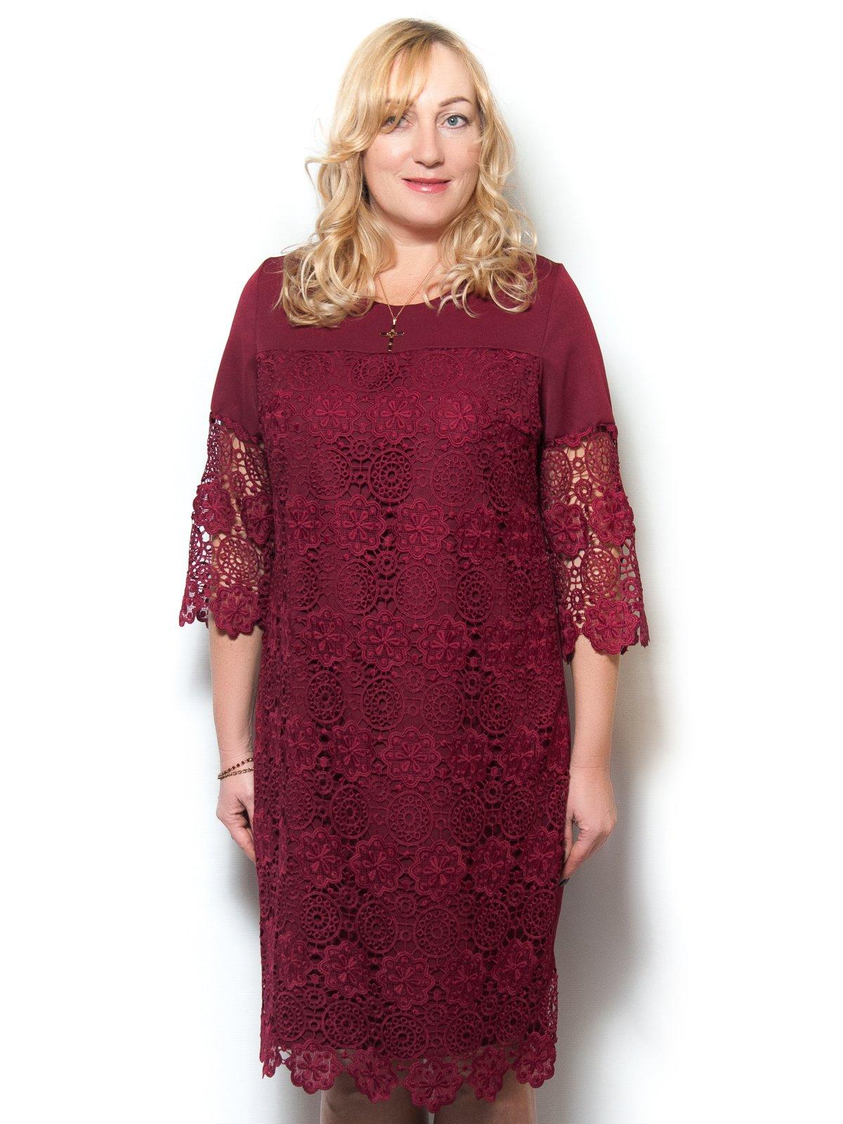 Сукня бордова | 4071397