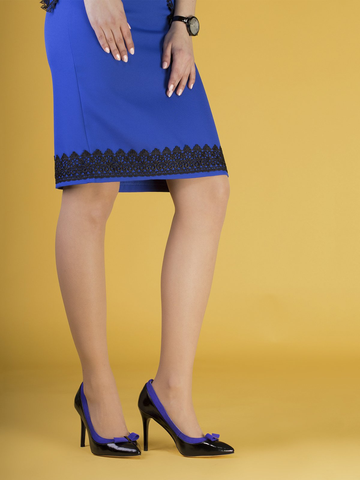 Туфли черно-синие | 3544268