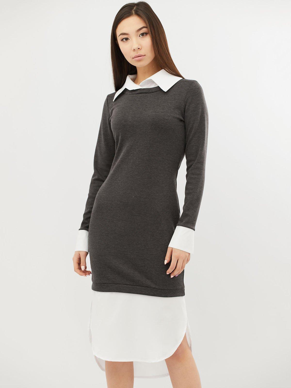 Платье темно-серое | 4071516