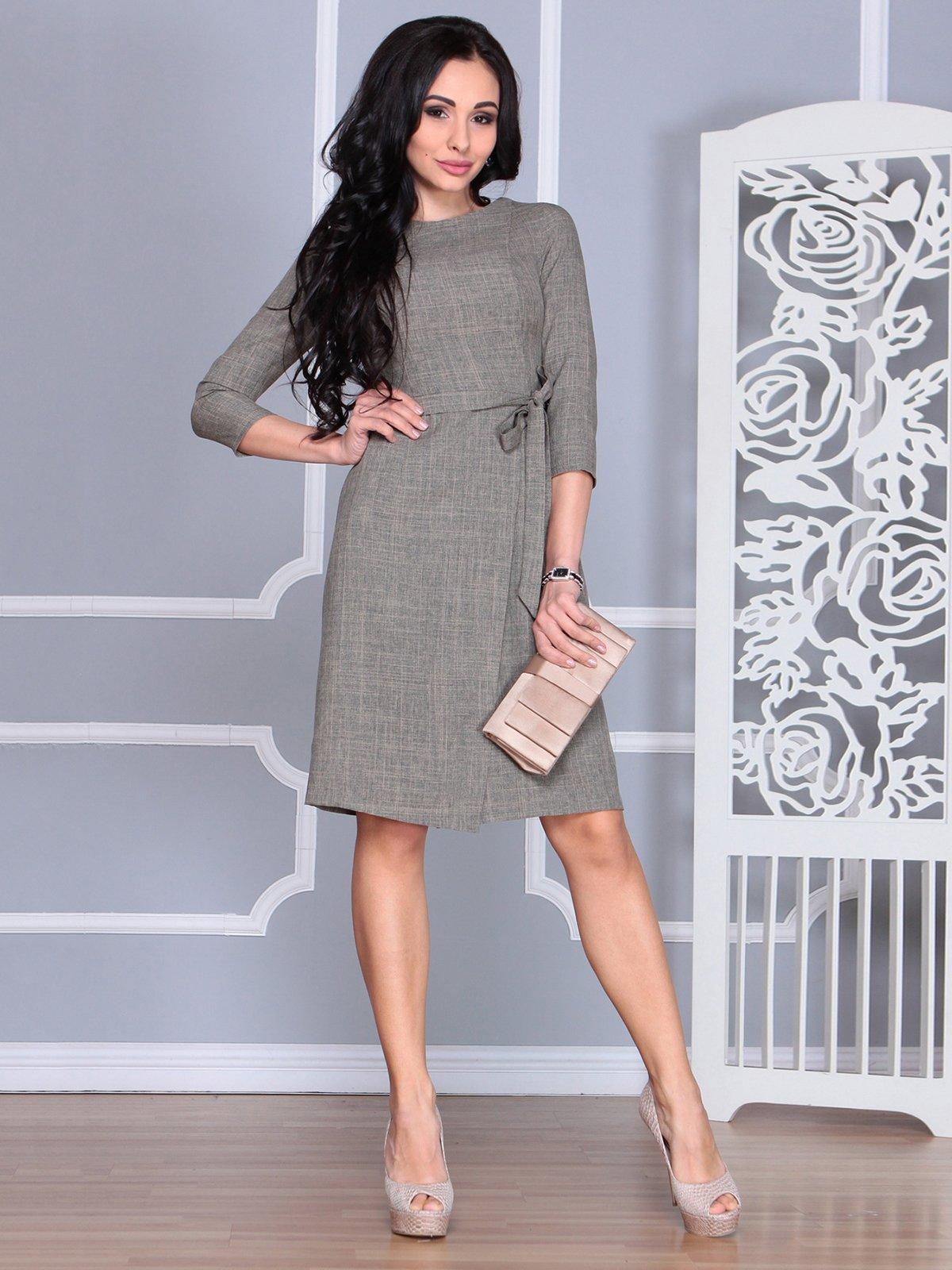 Сукня кольору бежевий хакі | 4068451