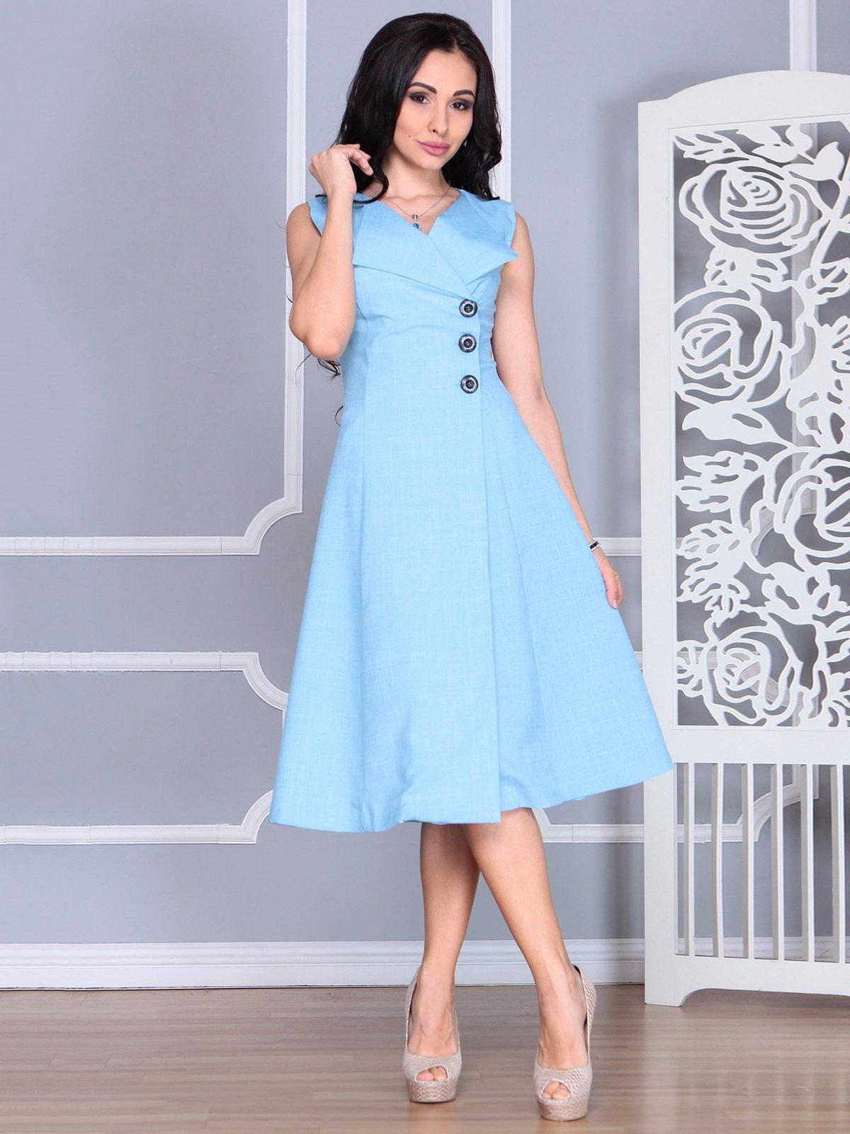Платье голубое | 4068454