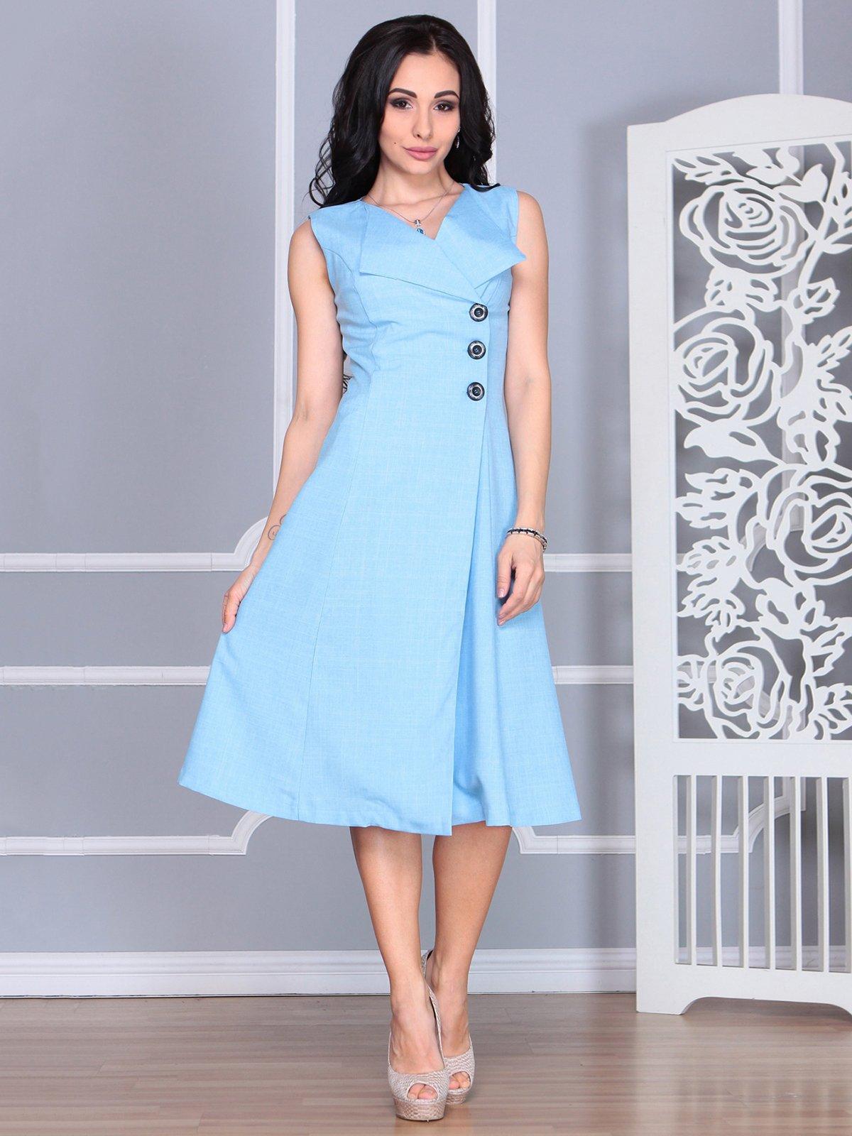 Платье голубое | 4068454 | фото 3