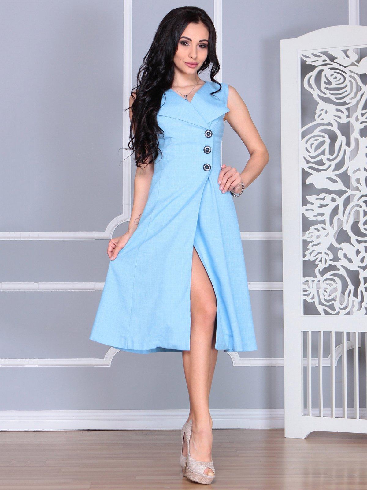 Платье голубое | 4068454 | фото 4