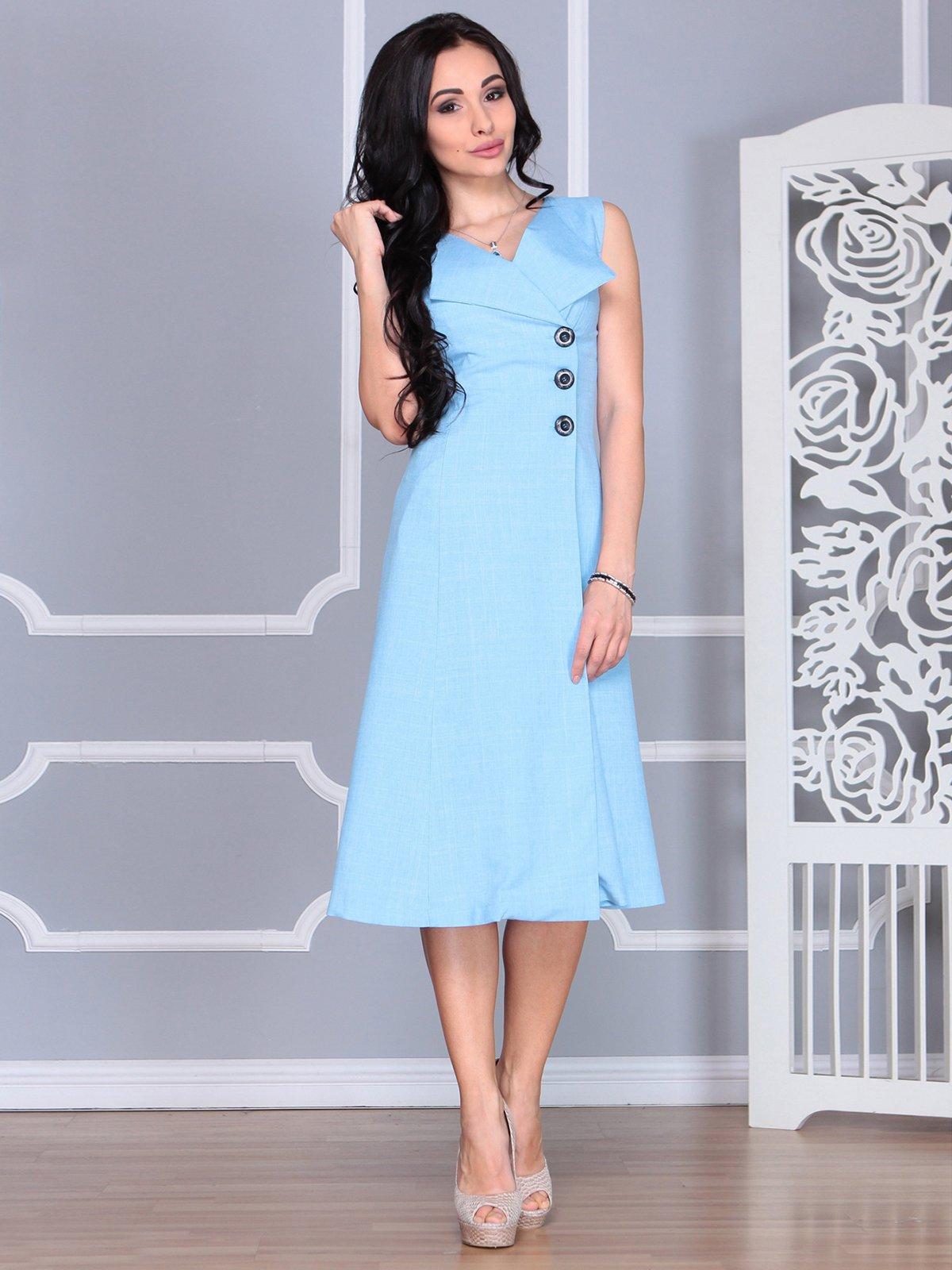 Платье голубое | 4068454 | фото 5