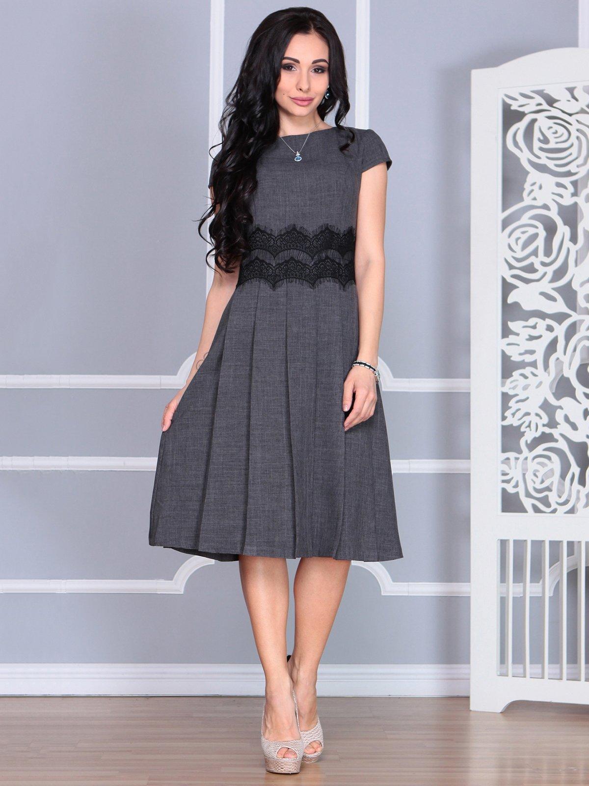Платье графитового цвета | 4068458