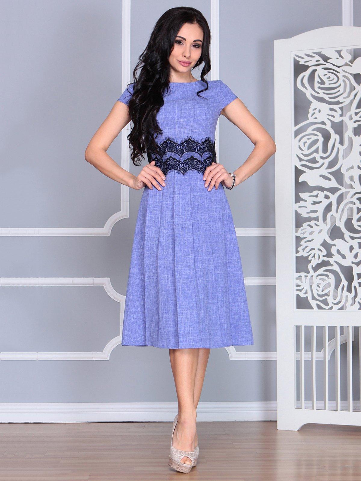 Платье фиолетовое | 4068473 | фото 4