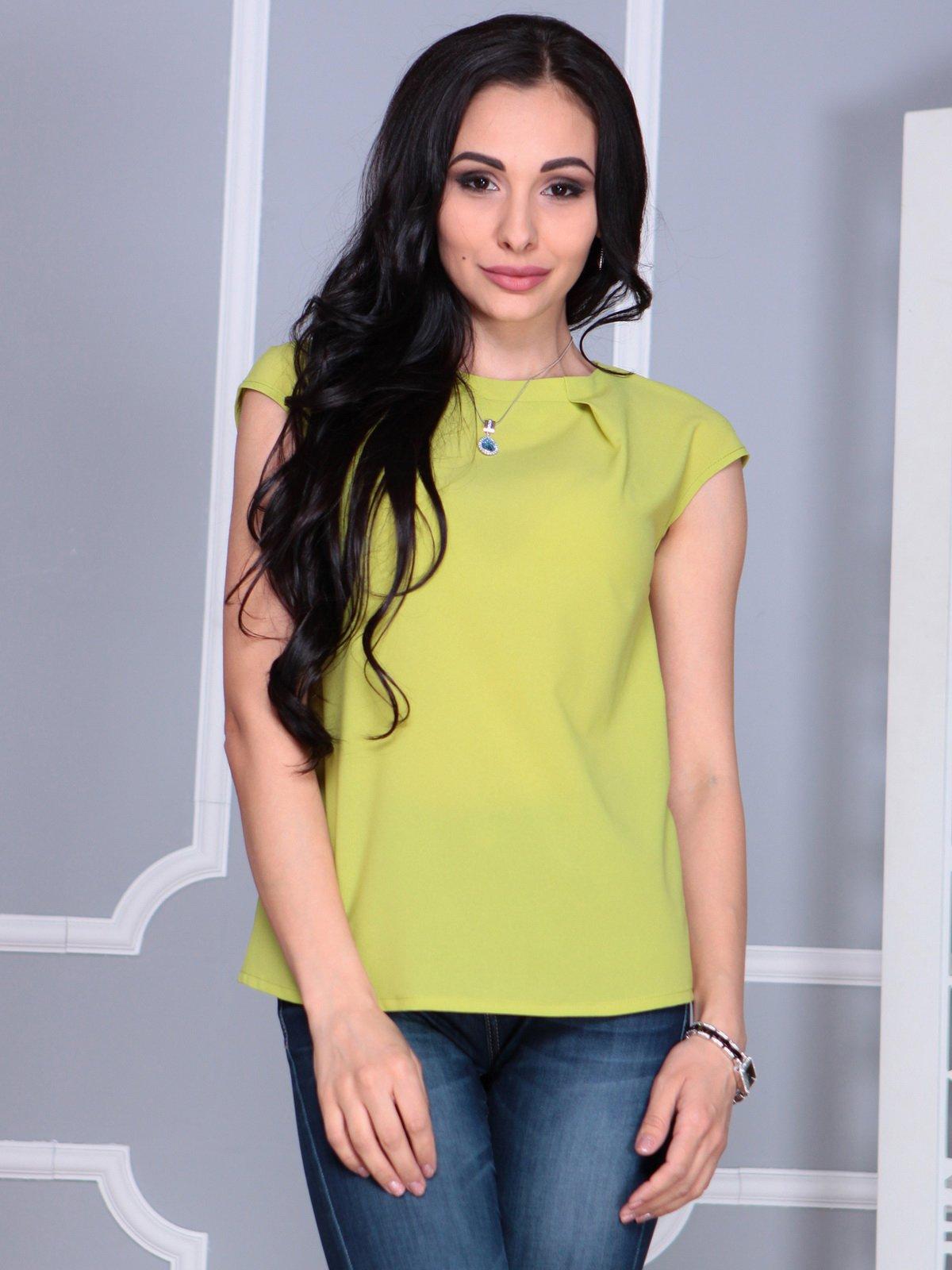 Блуза яблучного кольору | 4068486