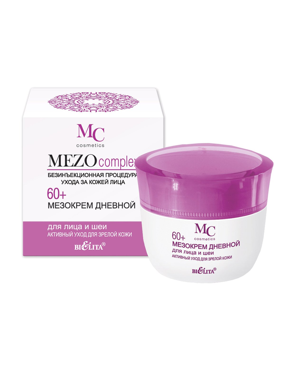 Мезокрем дневной для лица и шеи «Активный уход» для зрелой кожи 60+ (50 мл) | 4071596