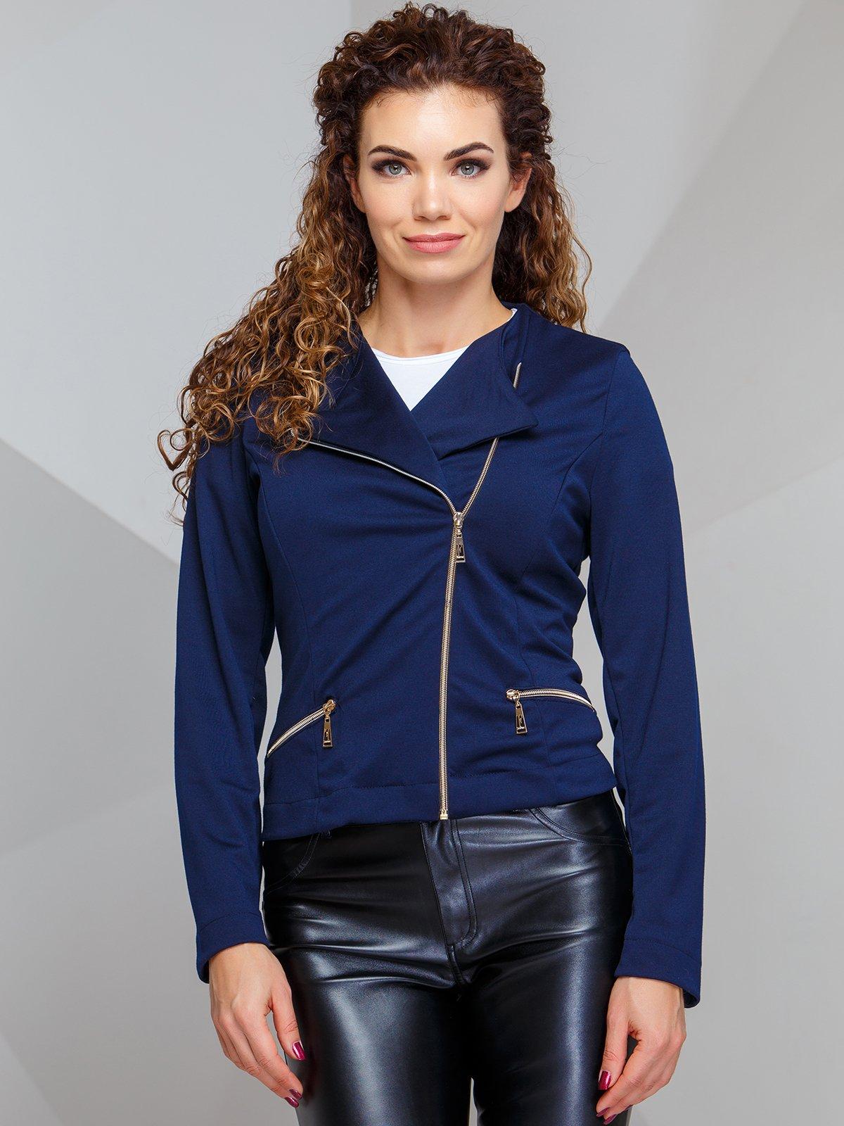 Жакет темно-синього кольору | 4068259