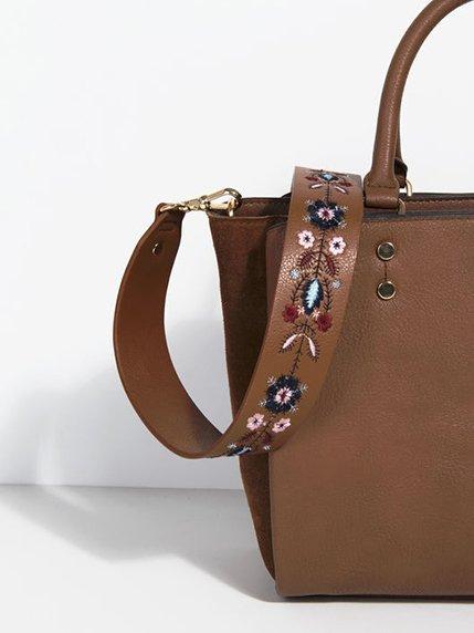 Ремень для сумки коричневый | 3936863