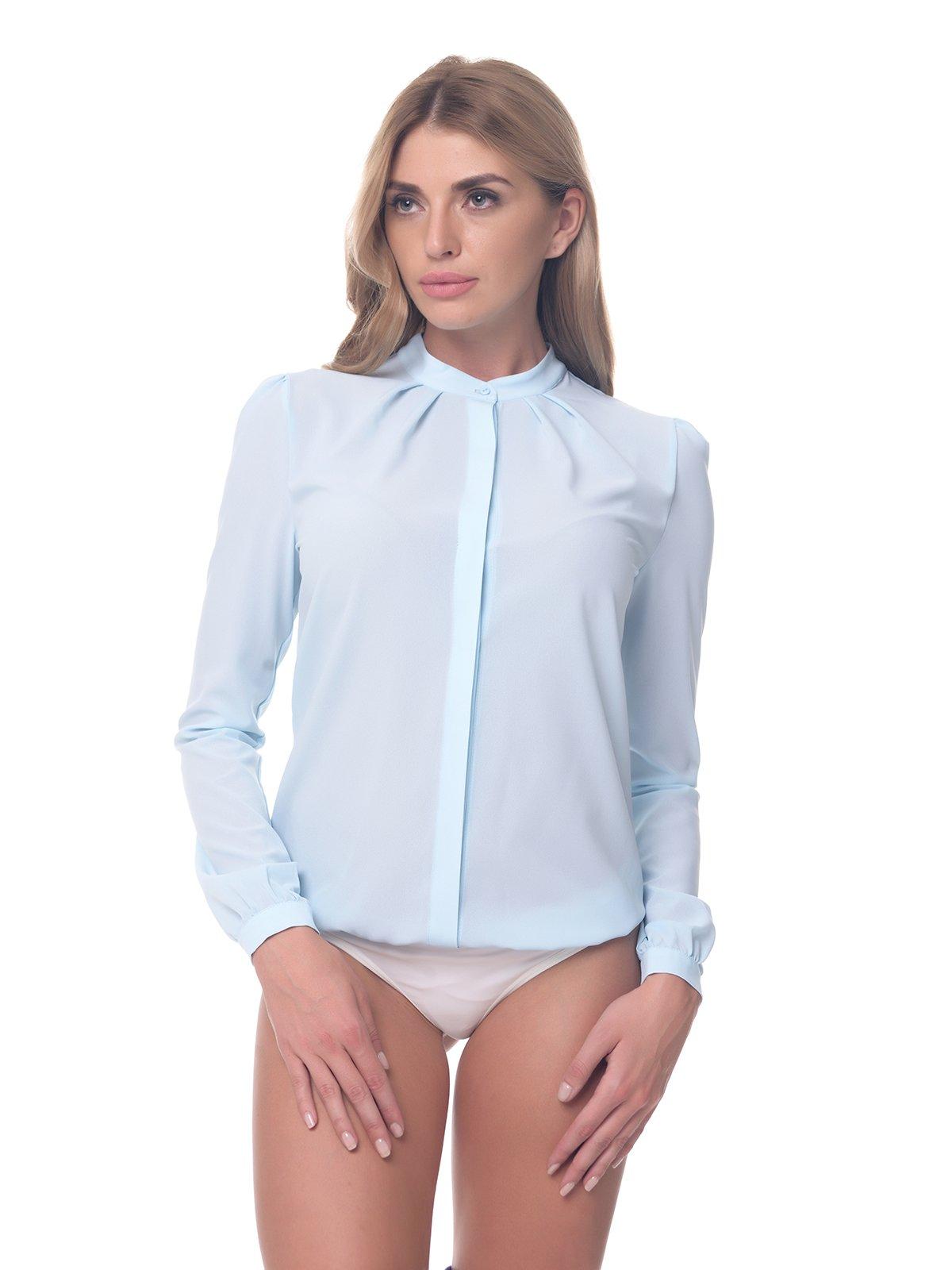 Блуза-боди голубая | 4081872