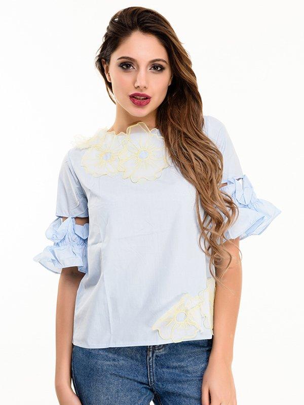 Блуза блакитна | 4080160