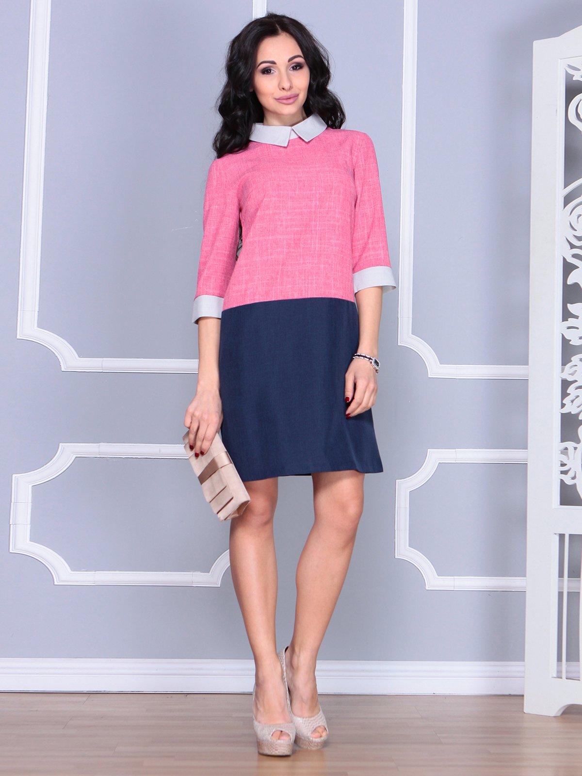 Сукня рожево-синя | 4085616