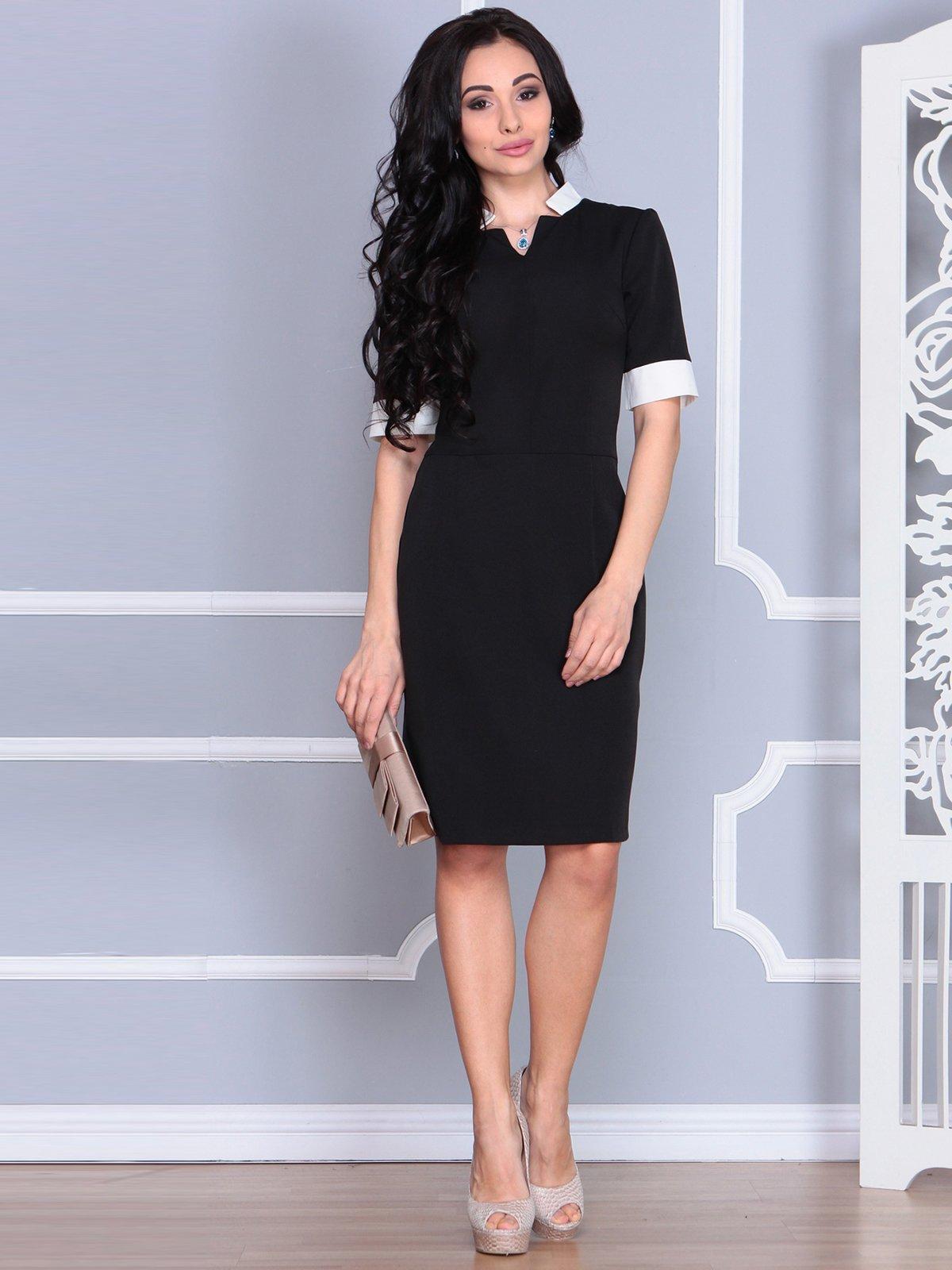 Платье черно-молочное | 4078936